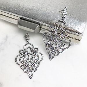 Medium Diamante Filigree Earrings