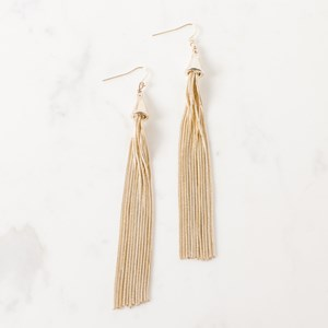 Long Fine Tassel Earring