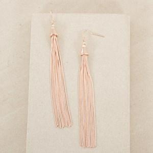 Long Fine Tassel Earring
