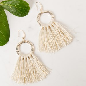 Fringe Ring Hook Earring