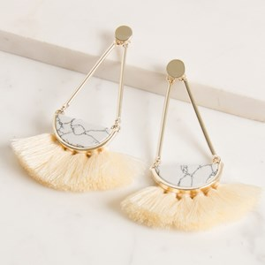 Half Moon Fringe Drop Earring