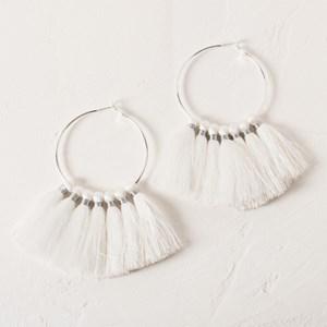 Large Hoop Tassel Earring