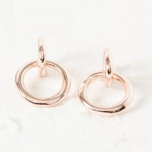 Ring Drop Stud Earrings