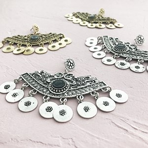 Bohemian Disk Fan Earring