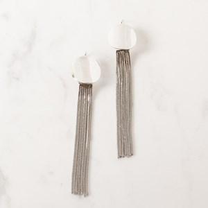 Button Chain Drop Earring