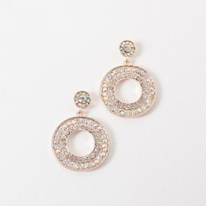 Diamante Circle Stud Earring