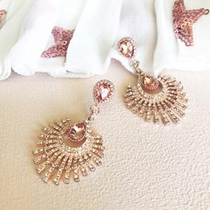 Diamante Fan Drop Earring