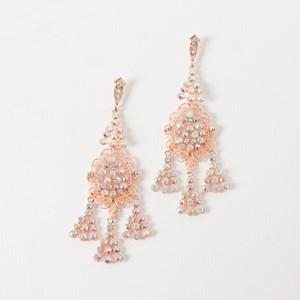 Diamante Triangle Drops Hook Earring