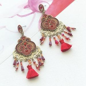 Fine Jewel & Crystal Fringe Earring