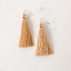 Luxe Long Tassel Hook Earring