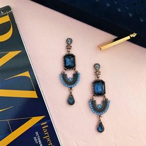 Medium Jewel & Diamante U Drop Earring