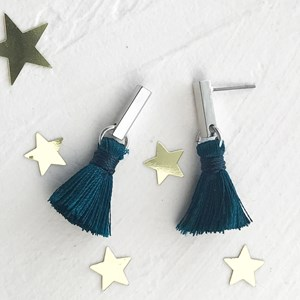 Mini Rod Mini Tassel Drop Earrings