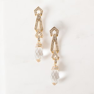 Multi Hinged Facet Crystal Drop Earring