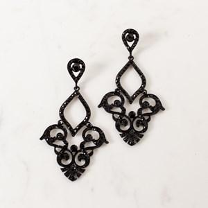 Open Diamante Antique Statement Earring