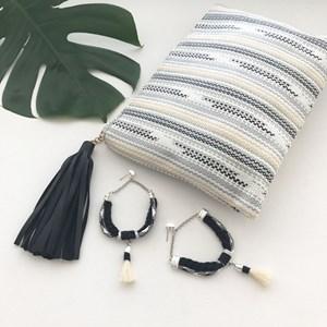 Rope & Tassel Drop Earring