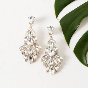 Statement Jewel Drop Earring