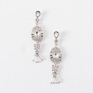 Sun Crystal Bead Drop Earrings