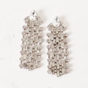 Diamante Rows Jewelled Stud Earring