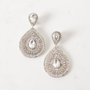 Double Teardrop Jewelled Earring