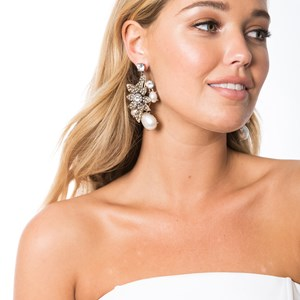 Floral & Pearl Statement Earring