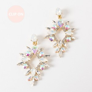 Jewelled Starburst Clip On Earring
