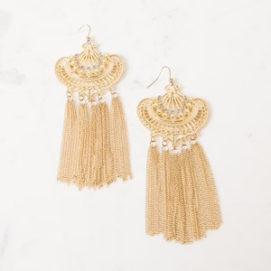 Long Chain Fringed Bohemian Earring