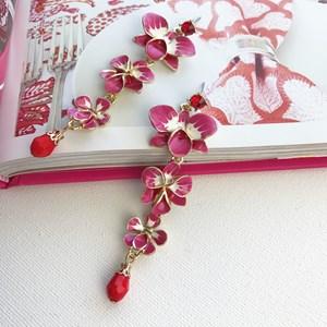 Orchid Trio Drop Earring