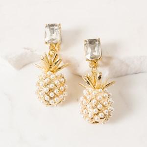 Pineapple Clip On Earring