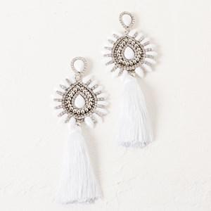 Tassel Drop Statement Jewel Earring