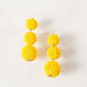 Three Bead Drop Hook Earring