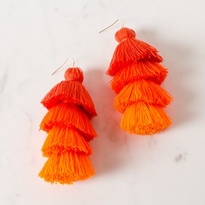 Chi Chi Tiered Tassel Earrings