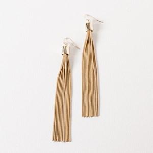 Faceted Snake Chain Tassel Earrings