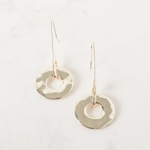 Spinning Wheel & Simple Hook Earrings