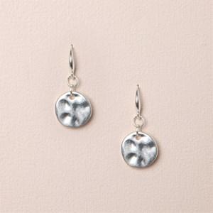 Textured Mini Disc Hook Earrings