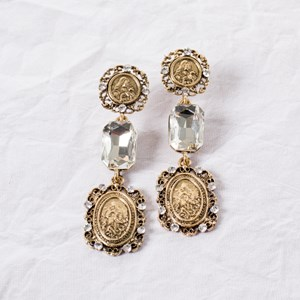 Saint Crystal Drop Earrings