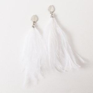 Statement Ostrich Feather Earrings