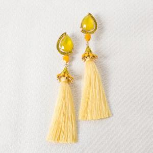 Tear Drop Diamante Tassel Earrings