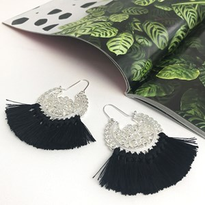 Moroccan Filigree Tassel Earrings