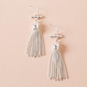 Fob & Tassel Hook Earrings