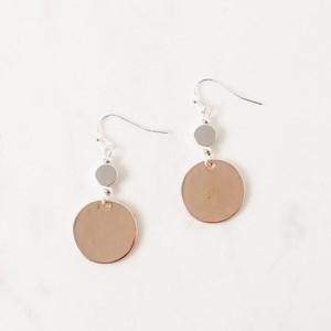 Discs Drop Hook Earrings