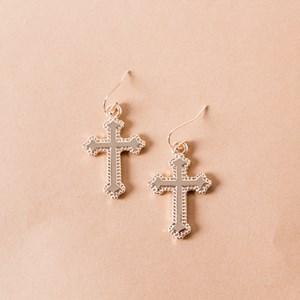 Celtic Cross Hook Earrings