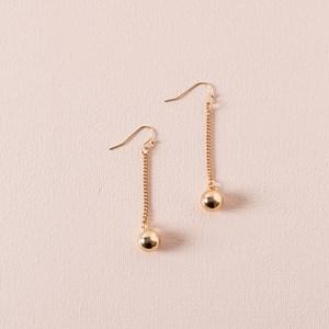 Tiny Ball Chain Hook Earrings
