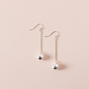 Tiny Ball Chain Hook Earrings