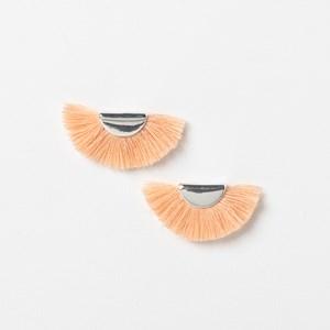 Mini Crescent Fringe Earrings