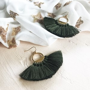 Mini Fringe Hook Earrings
