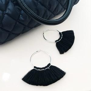 Metal Top Tassel Fringe Earrings