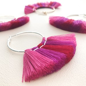 Metal Top Tassel Fringe Earrings