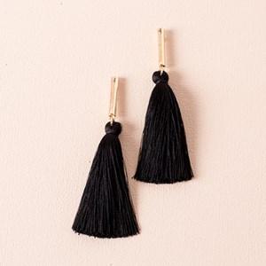 Rod Tassel Stud Earrings