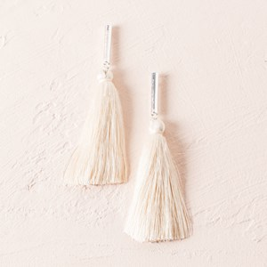 Rod Tassel Stud Earrings
