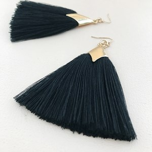 Saddle Long Fringe Hook Earrings